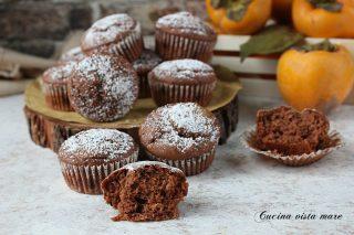 muffin cacao e cachi