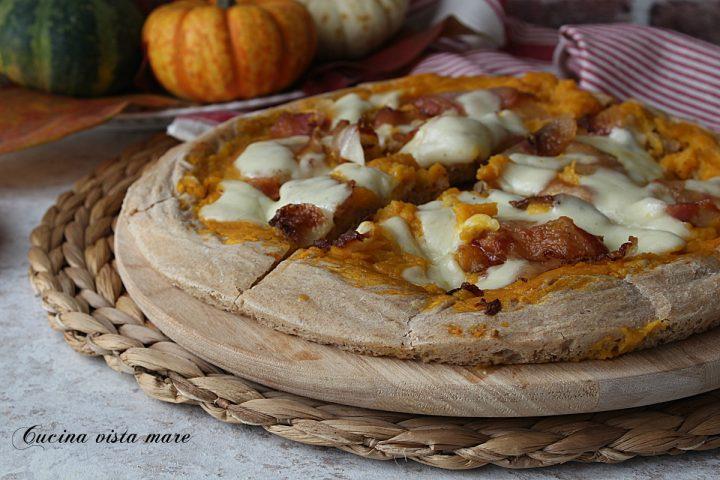 pizza zucca e guanciale