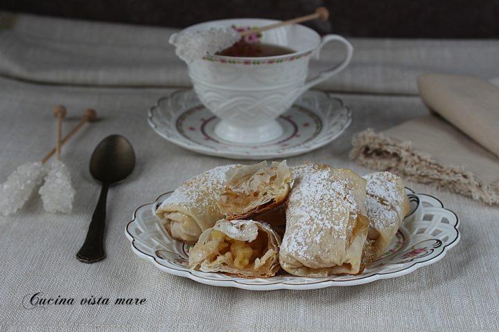 involtini dolci di pasta fillo alle mele