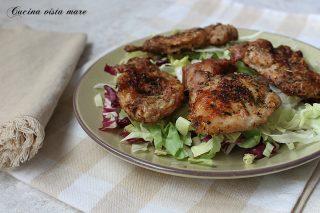 tagliata di pollo in friggitrice ad aria