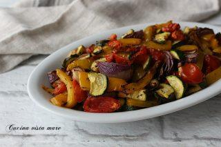 verdure miste in friggitrice ad aria