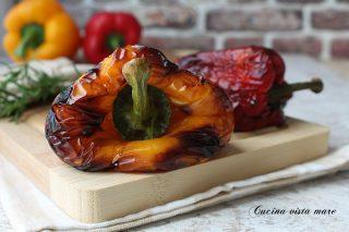 peperoni arrosto in friggitrice ad aria
