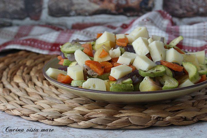 insalata di verdure e asiago