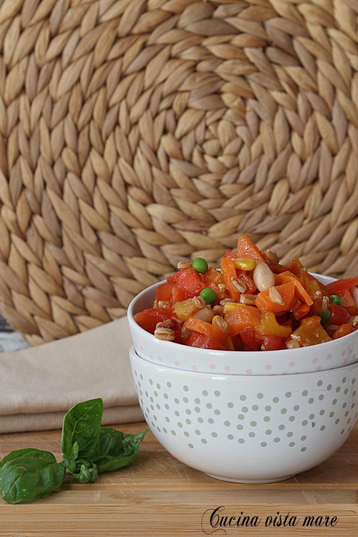 insalata di farro e legumi