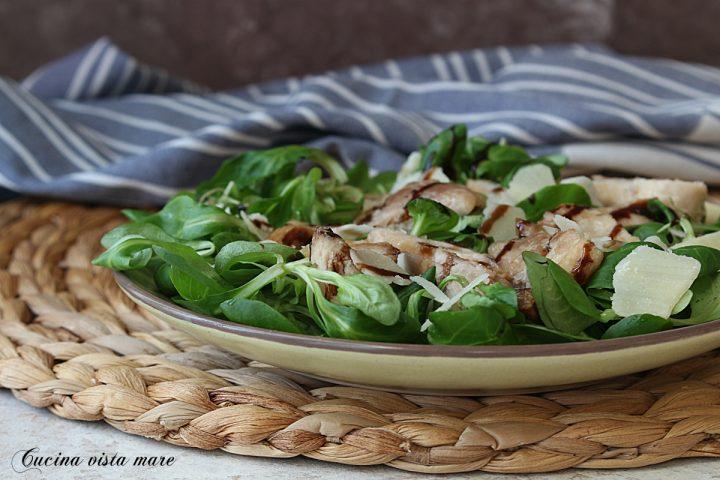 insalata di pollo e valeriana