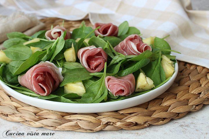 insalata di spinacini e prosciutto
