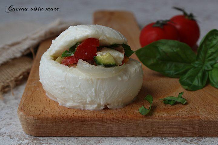 mozzarelle ripiene di verdure