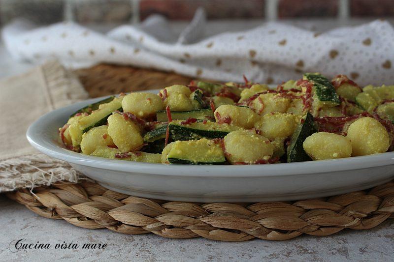 Gnocchetti zucchine e bresaola