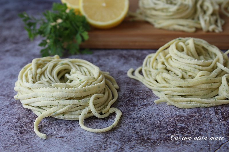 Pasta fresca limone e prezzemolo