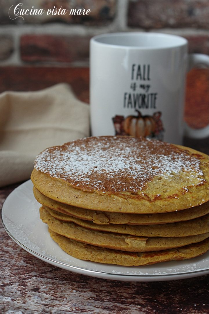 Pancakes alla zucca Cucina vista mare