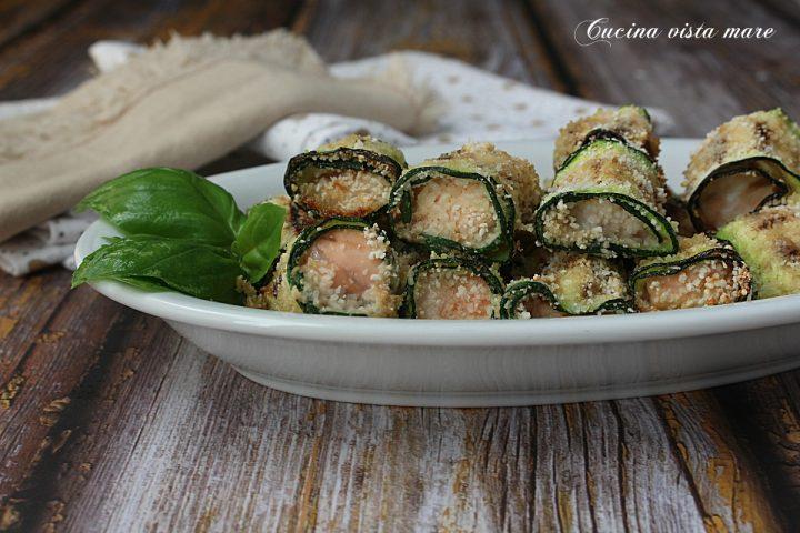 Involtini salmone e zucchine Cucina vista mare