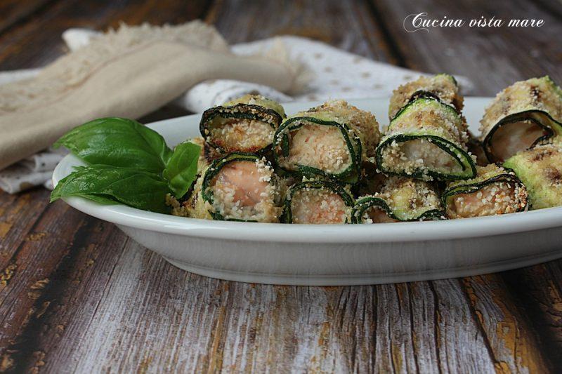 Involtini salmone e zucchine