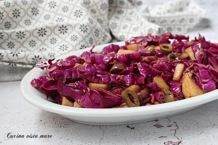 Insalata di cavolo viola Cucina vista mare