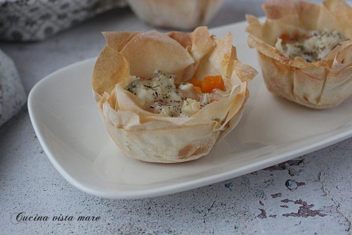 Cestini zucca e gorgonzola Cucina vista mare
