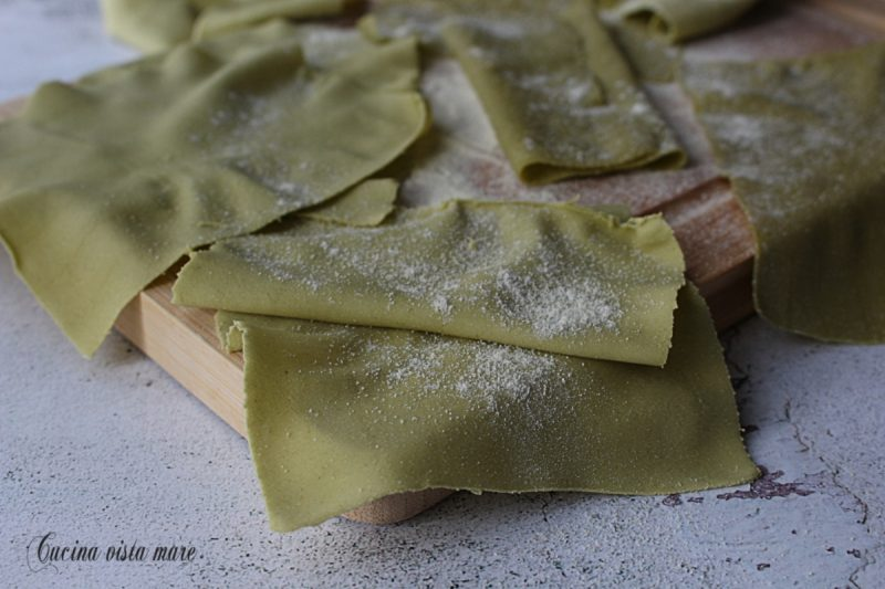 Sfoglia verde per lasagne o cannelloni