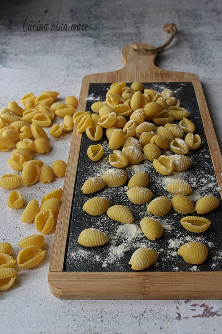 Gnocchetti sardi fatti in casa Cucina vista mare