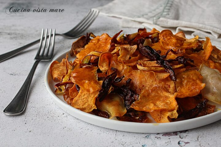 Chips di verdure al forno Cucina vista mare