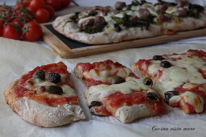 Pinsa romana Cucina vista mare