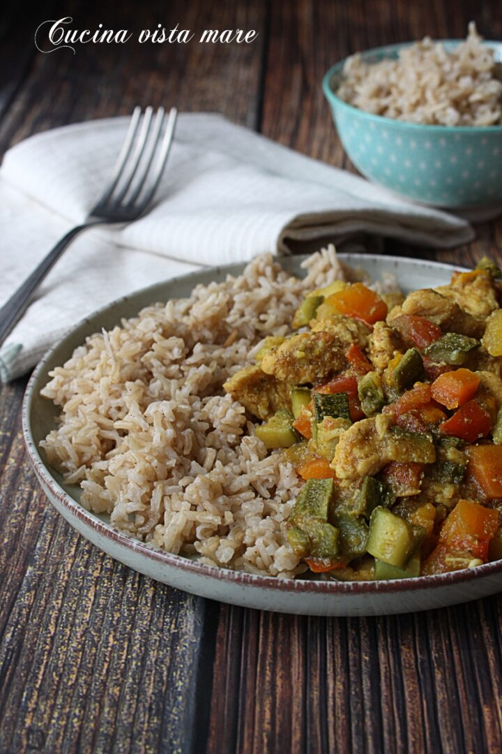 Pollo al curry Cucina vista mare
