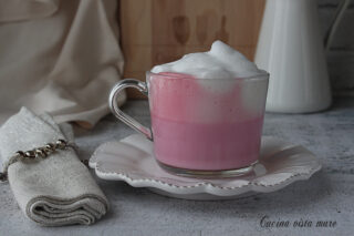Cappuccino rosa Cucina vista mare