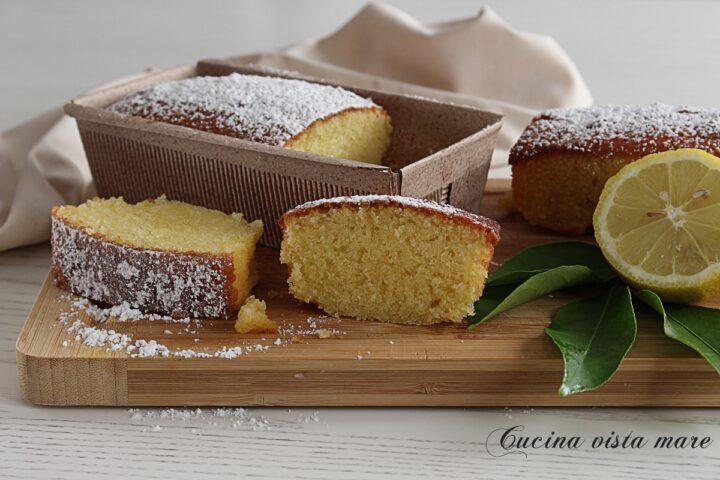 Plumcake limone e cioccolato bianco Cucina vista mare