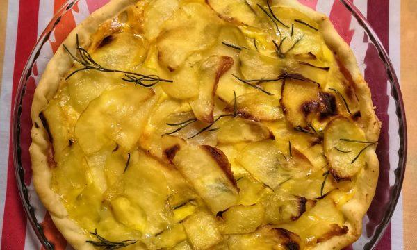 Torta salata di patate e prosciutto