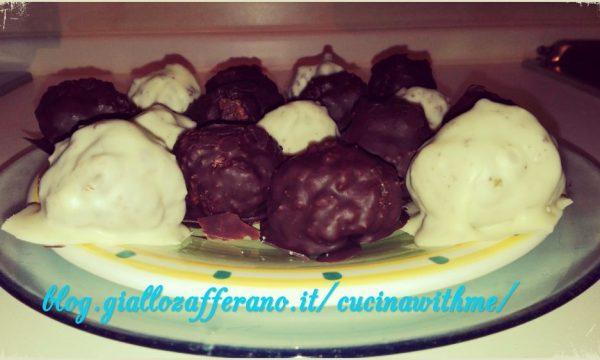 Black & White-Tartufi con cioccolato fondente e bianco