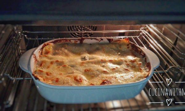Lasagne zola speck e zucchine