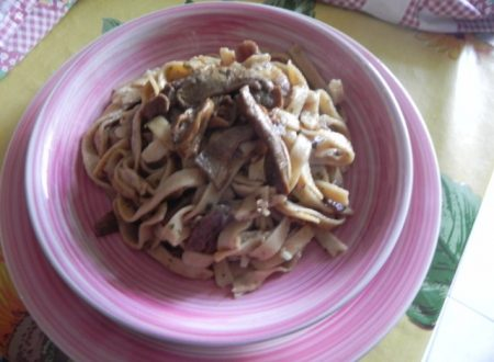 tagliatelle fresche con funghi porcini