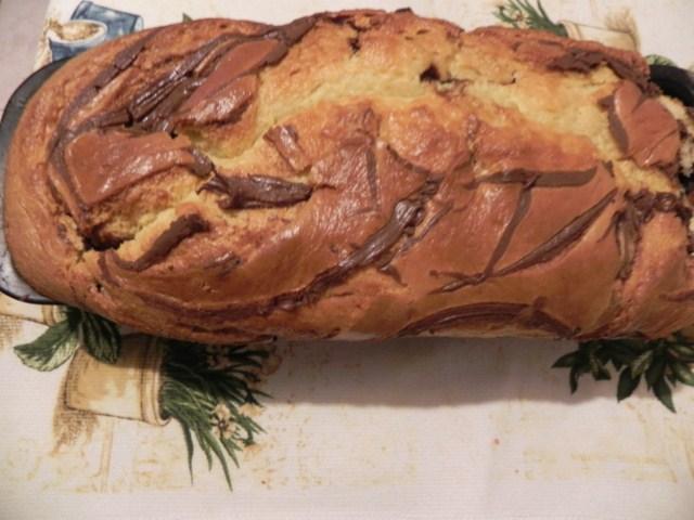 plumcake variegato alla pere e nutella