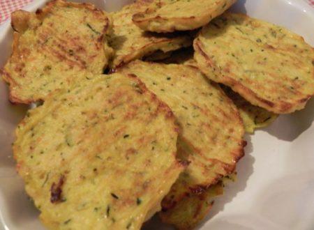 frittelle di patate e zucchine al forno