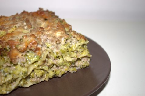 Lasagne bianche con broccoli e salsiccia