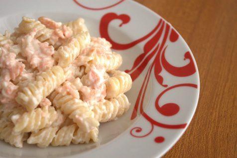 Pasta con salmone e panna