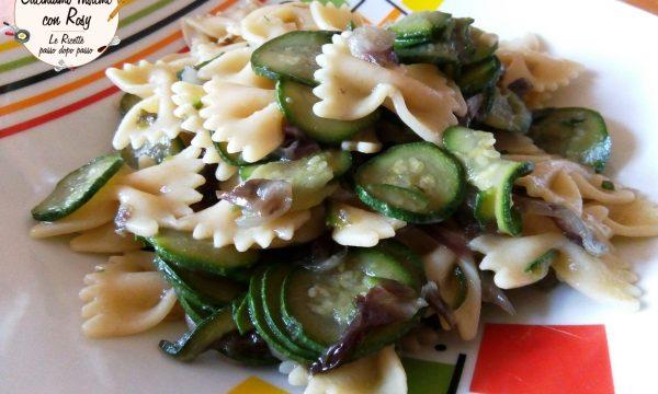 Farfalle zucchine, radicchio e lime – LIGHT e VEGANO