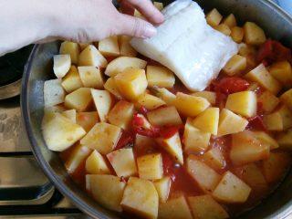 Baccalà al pomodoro con patate