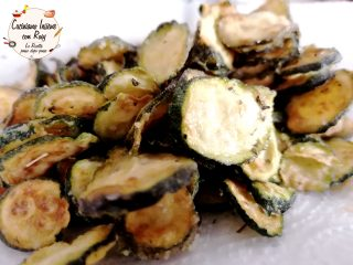 Zucchine fritte alla menta