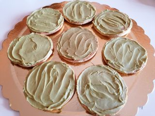 Biscotti pistacchio e burro di arachidi occhio di bue