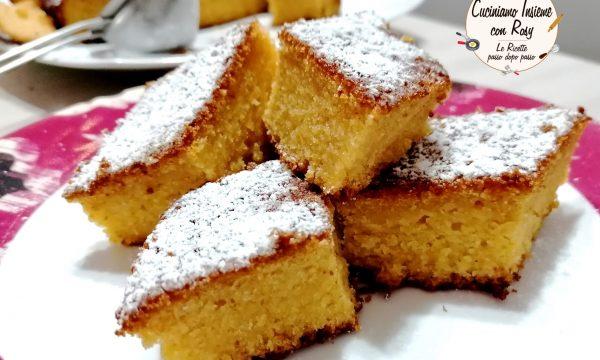 Torta arancia e carote Vegan Senza zucchero