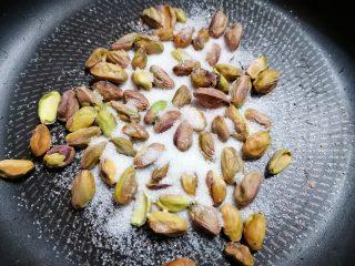Torta simil panettone pistacchi e mirtilli