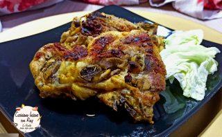 Pollo alla griglia marinato al curry