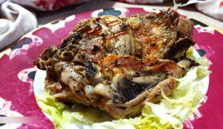 Pollo alla griglia marinato alla menta