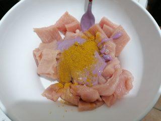 Petto di tacchino con yogurt, mirtilli e curry