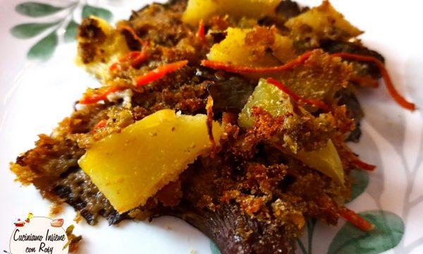 Funghi e patate gratinati al pesto al basilico