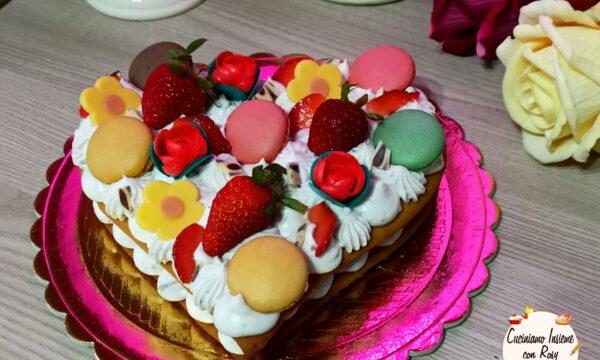 Cream tart cuore frolla all'olio senza uova