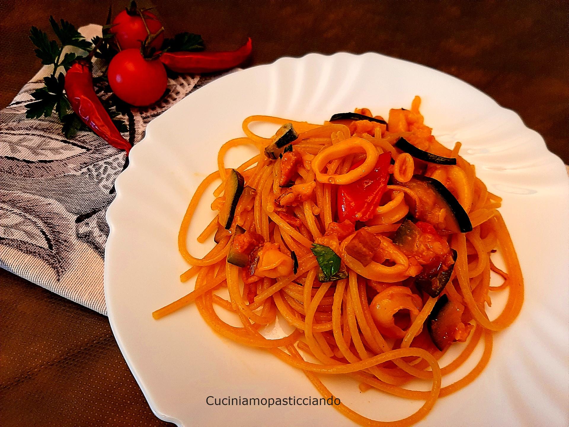 Spaghetti integrali terra e mare