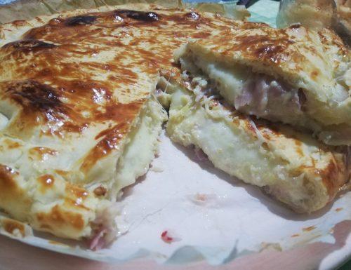 TORTA SALATA CON CARCIOFI E PROSCIUTTO COTTO