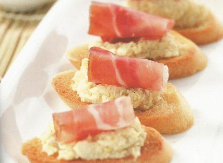 Baguette con crema di carciofi e speck
