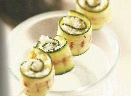 Spiedini di zucchine e cavolfiore