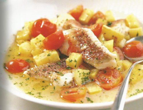 Gallinella all'acquapazza con patate