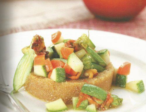 Amaranto con verdure e mandorle